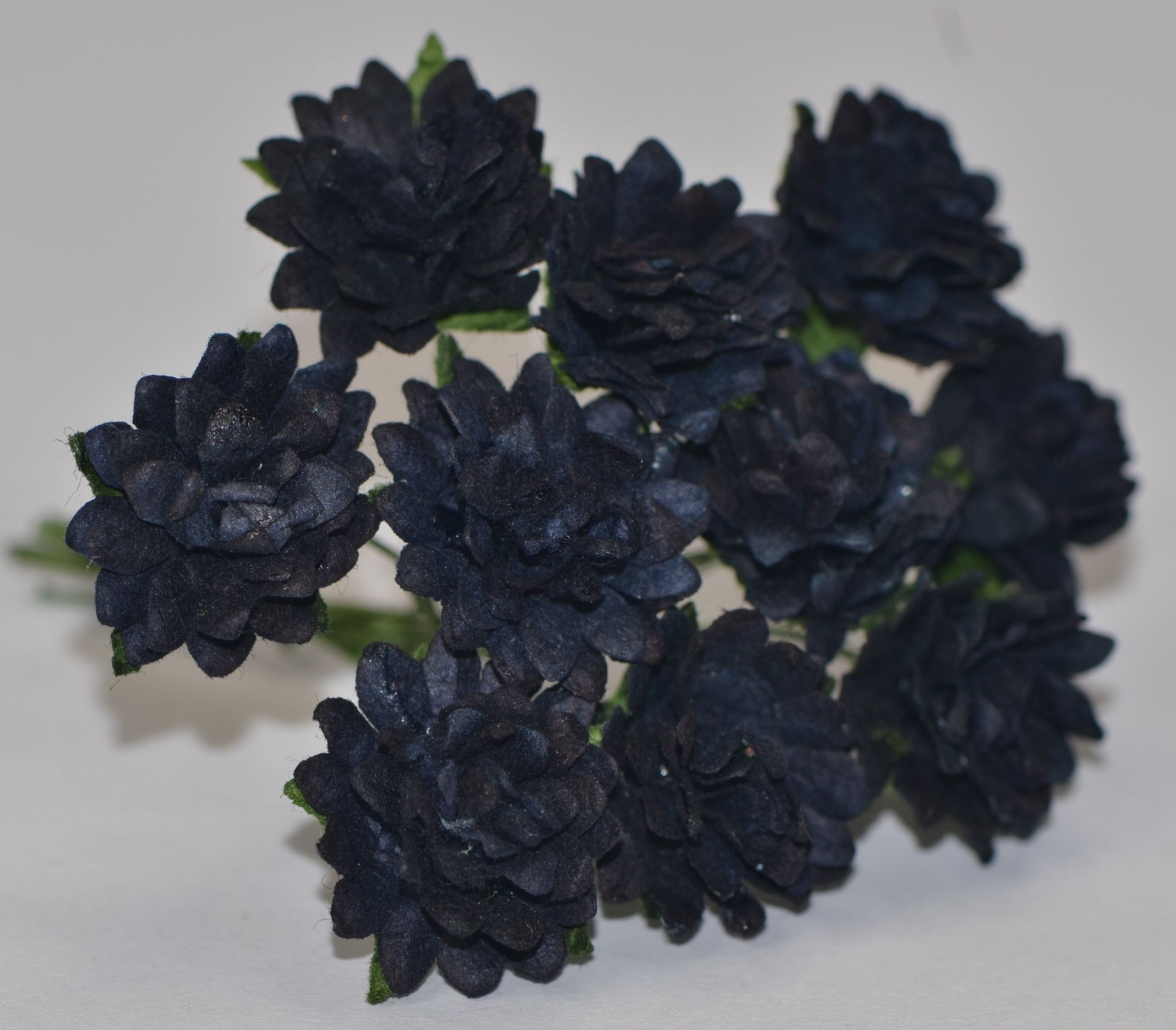 Midnight Blue Black Aster Daisy 13 Cm Mulberry Paper Flowers